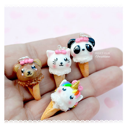 Animal Ice Cream Kawaii Charm