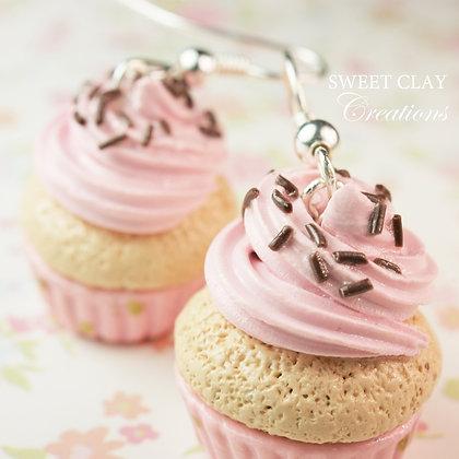 Strawberry Chocolate Cupcake Earrings