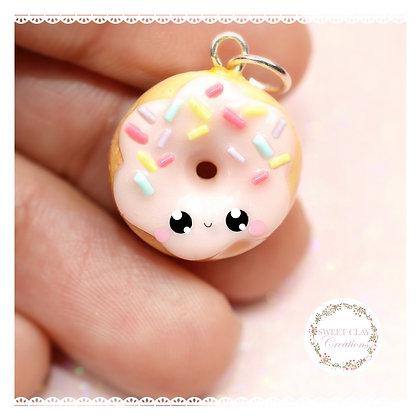 Donut Pink Teal Kawaii Charm