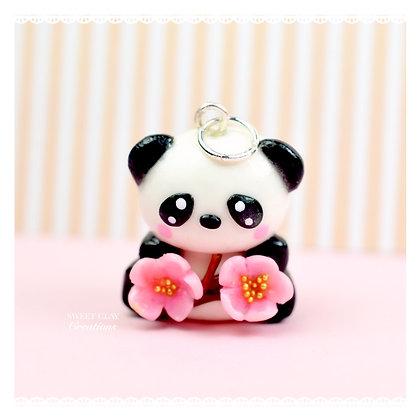 Panda Cherry Blossom Kawaii Charm