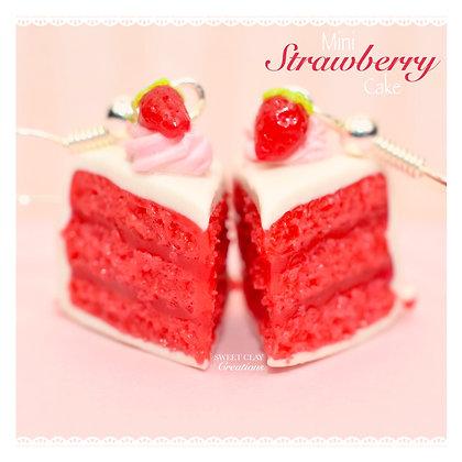Strawberry Cake Slices Earrings
