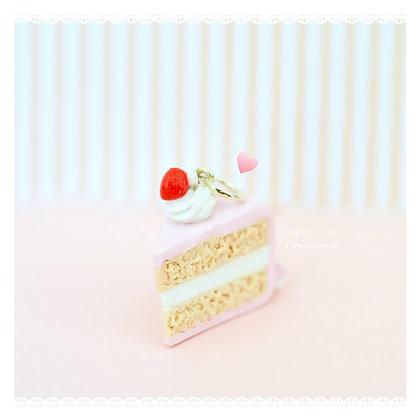 Strawberry Cherry Cake Charm