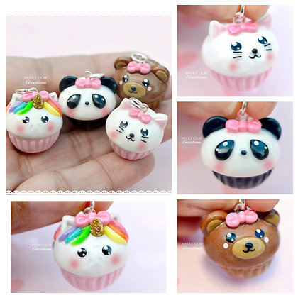 Animal Cupcake Kawaii Charm