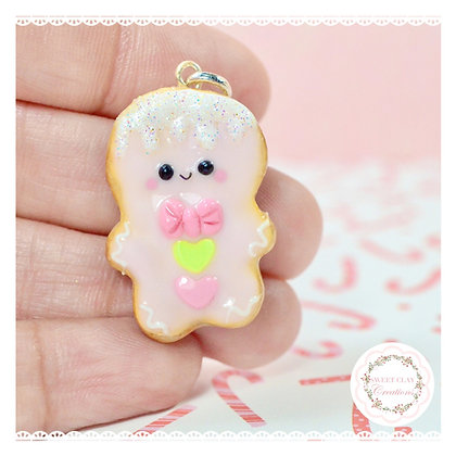 Gingerbread Man Cookie Charm