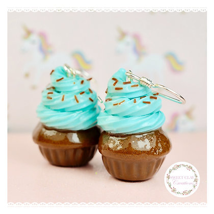Mint Chocolate Chips Cupcakes Earrings