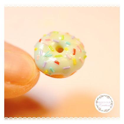 Teal Donut Charm