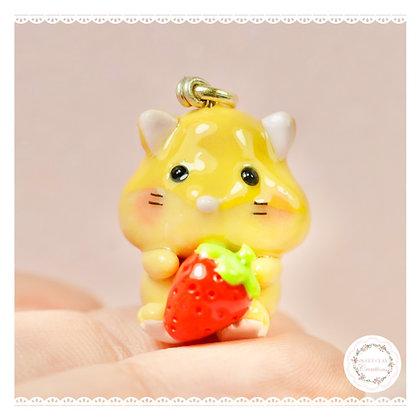 Orange Hamster Kawaii Charm