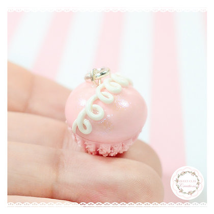 Pink Hostess Cupcake Charm