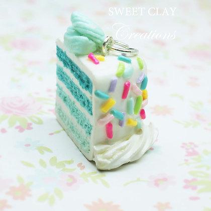 Teal Layered Cake Charm