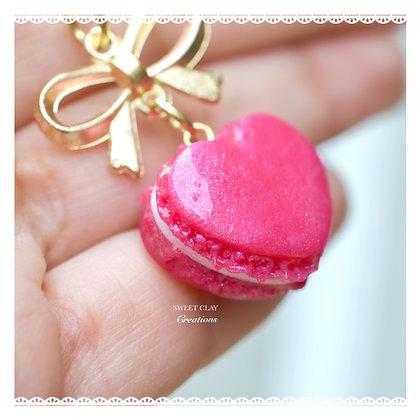 Heart Macaron Keychain