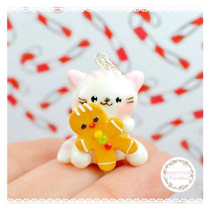 Ginger Bread Cat Kawaii Charm