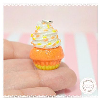Candy Corn Cupcake Charm