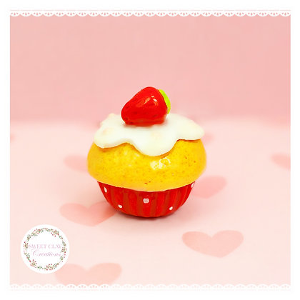 Strawberry Shortcake Cupcake Charm