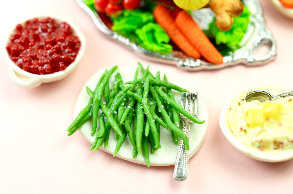 Green Beans, Cranberries and Mash Potatoes