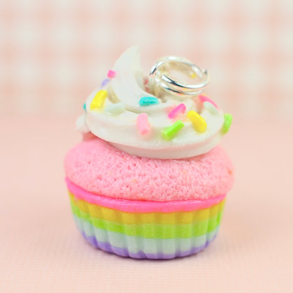 Soft Pastels Rainbow Cupcake Charm