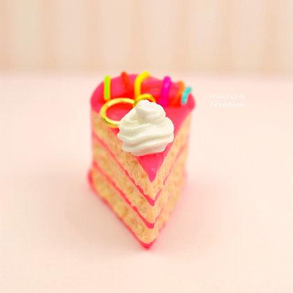 Hot Pink Cake Charm