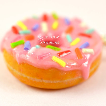 Strawberry Donut Charm