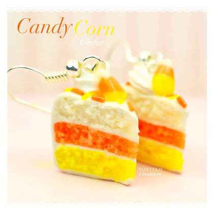 Candy Corn Cake Earrings