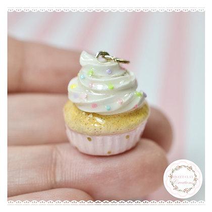 Baby Pink Cupcake Charm
