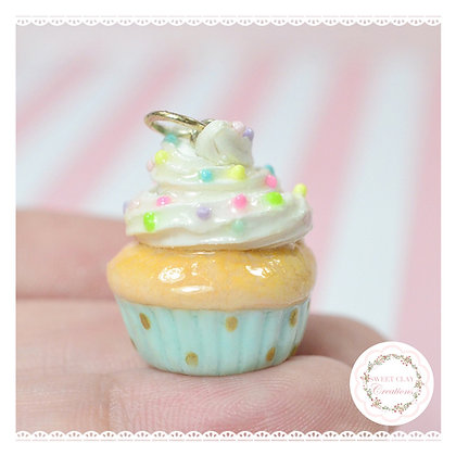 Teal Cupcake Charm