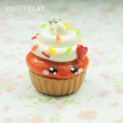 Pumpkin Cupcake Kawaii Charm