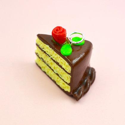 Chocolate Cake Rose Charm