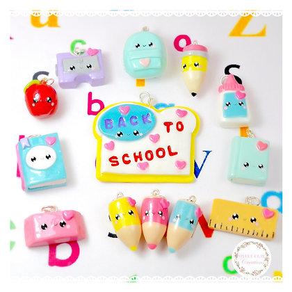 Back To School Kawaii Charms