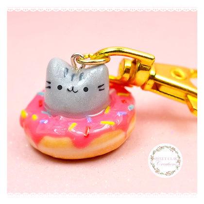 Pusheen donut Keychain