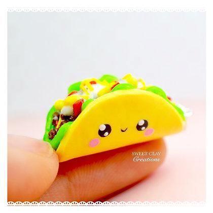 Taco Kawaii Charm