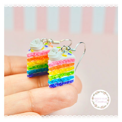 Rainbow Birthday Cake Earrings