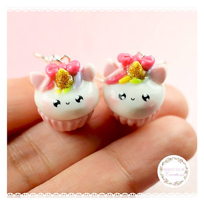 Unicorn Cupcake Kawaii Earrings