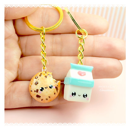 Cookies and Milk BFF Kawaii Keychain Charms
