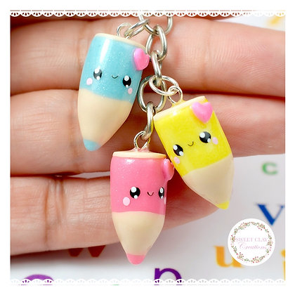 Mini Color Pencils Kawaii Keychain