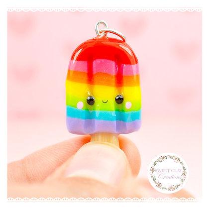 Rainbow Popsicle Kawaii Charm