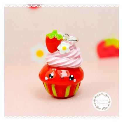 Strawberry Cupcake Kawaii Charm