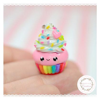 Rainbow Cupcake Kawaii Charm