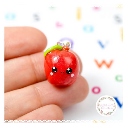 Apple Kawaii Charm