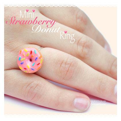 Strawberry Donut Ring