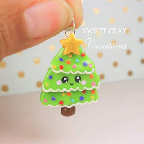 Polymer Clay Christmas Charms.Polymer Clay Christmas Tree