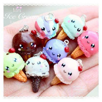 Ice Cream Kawaii Charm