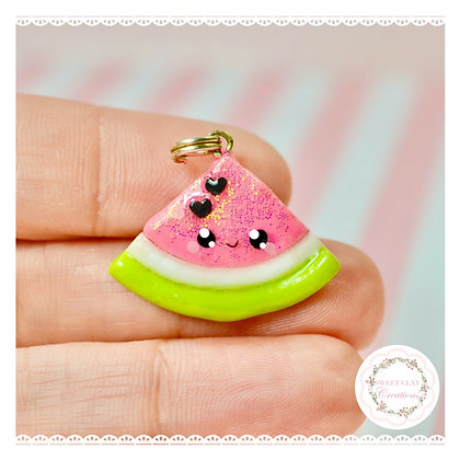 Pink Watermelon Kawaii Charm