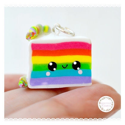 Rainbow Cake Kawaii Charm