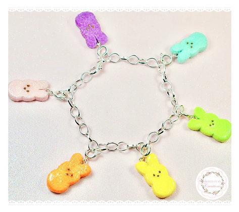 Bunny Peeps Charm Bracelet