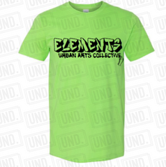 Green w: Black Logo Tee Front.png