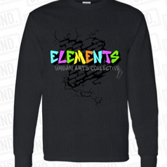 Black w: colored logo Long Sleeve.png