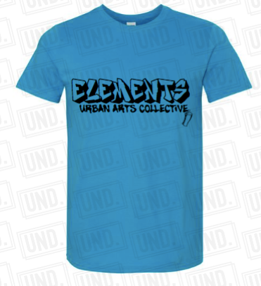 Blue w: Black Logo Tee Front.png