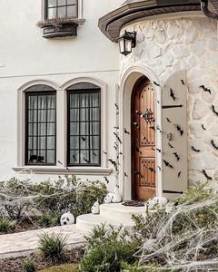 exterior front door halloween decor