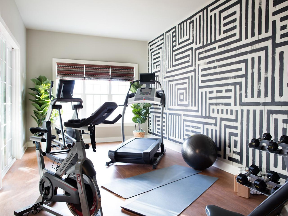 energetic walls for home workout area