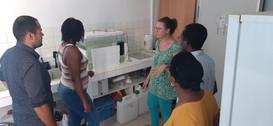 Visite du laboratoire BOREA par Mme Charlotte DROMARD