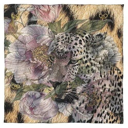 #endlessChic Square NeckScarf / Animalier Real Silk Foulard